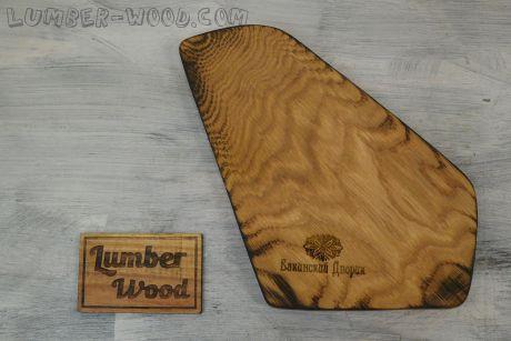 Деревянная доска для подачи, треуголка.  арт. 608