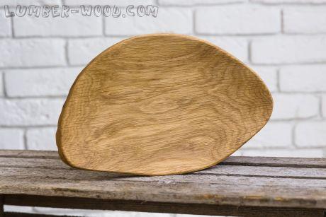 Деревянная тарелка для подачи! Необычная серия.  арт. 619