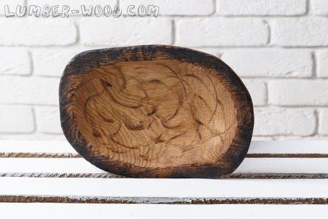 Деревянная тарелка. Устар. Необычная серия.  арт. 670
